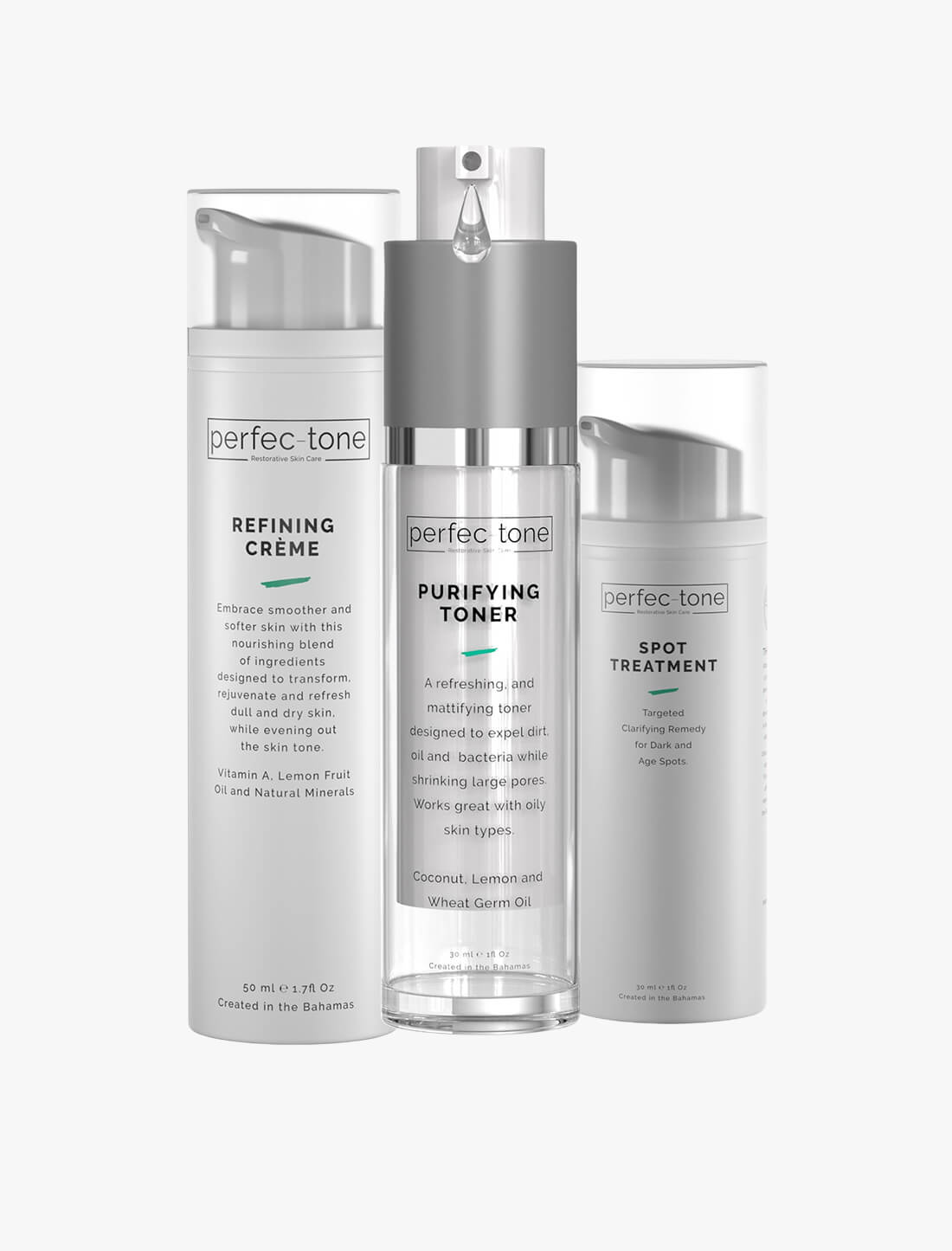 Complexion Perfection Set - Purifying Toner, Refining Crème, & Spot Treatment