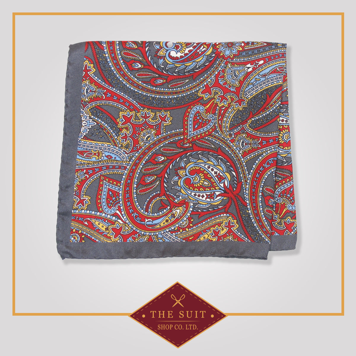 210 Patterned Silk Pocket Square
