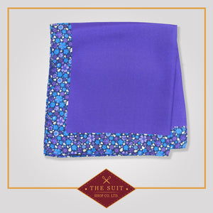 Purple Heart Patterned Silk Pocket Square
