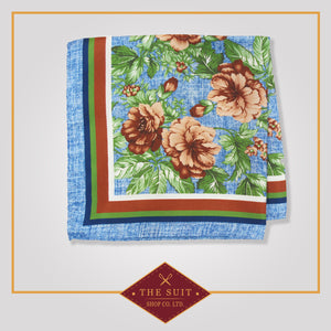 228 Patterned Silk Pocket Square