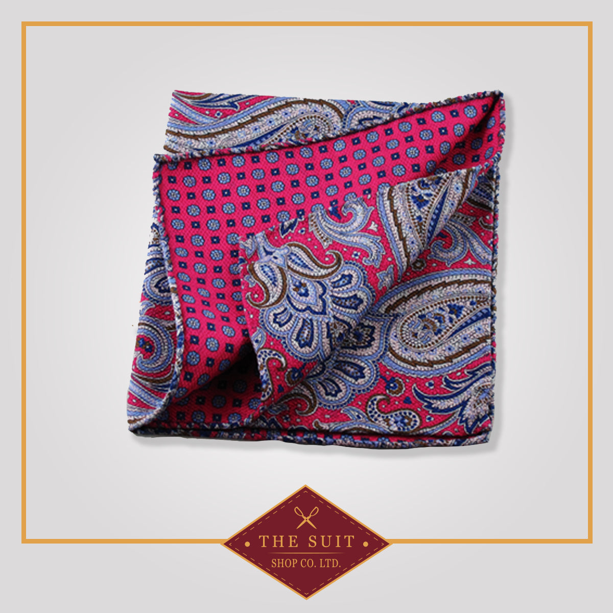 242 Patterned Silk Pocket Square