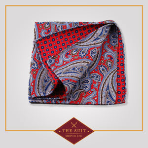243 Patterned Silk Pocket Square