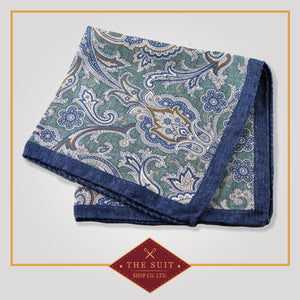 Juniper Patterned Silk Pocket Square