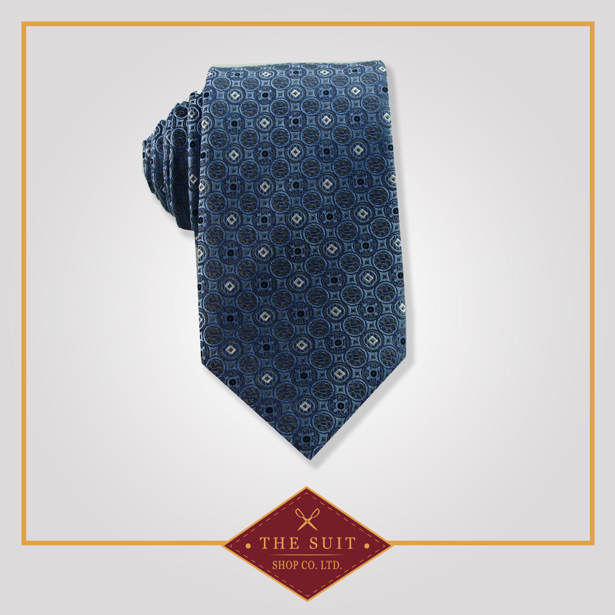 Pickled Bluewood Patterned Tie