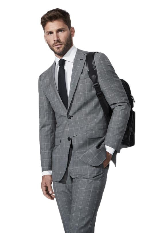 Black and White Windowpane Jacket