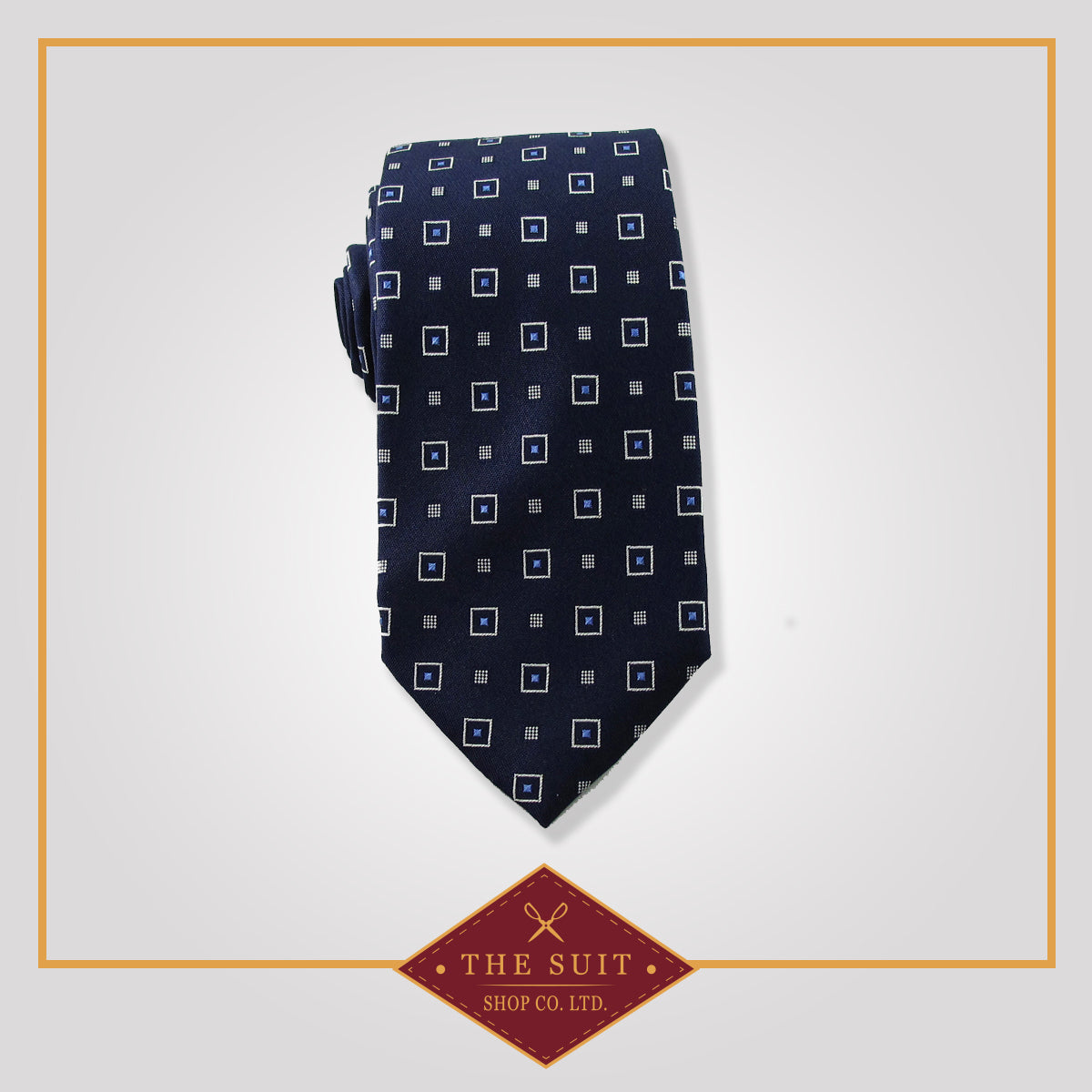 Oxford Blue Patterned Tie