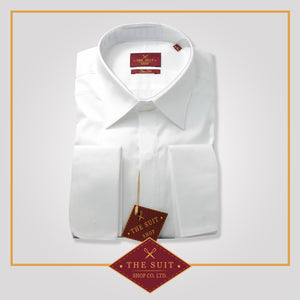Milano Shirt White Sateen Cotton with French Cuffs