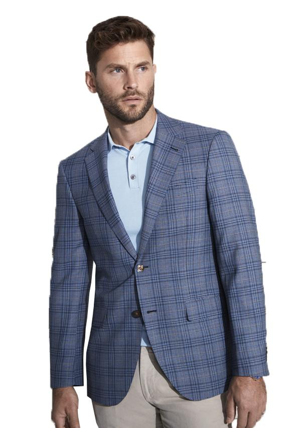 Blue and Brown Check Jacket