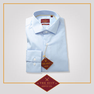 Windsor Shirt Baby Blue 100% Easy Iron Cotton