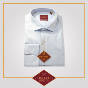 Windsor Shirt Baby Blue Fine Twill Cotton