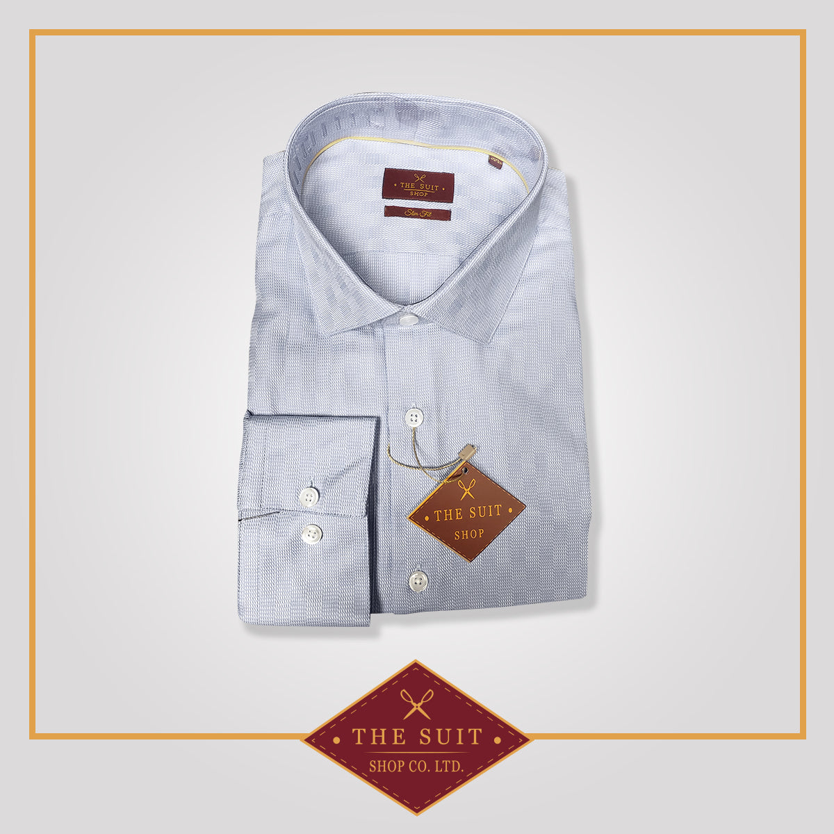 Windsor Shirt Baby Blue High Twill Cotton