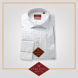 Windsor Shirt Blue Check Dobby