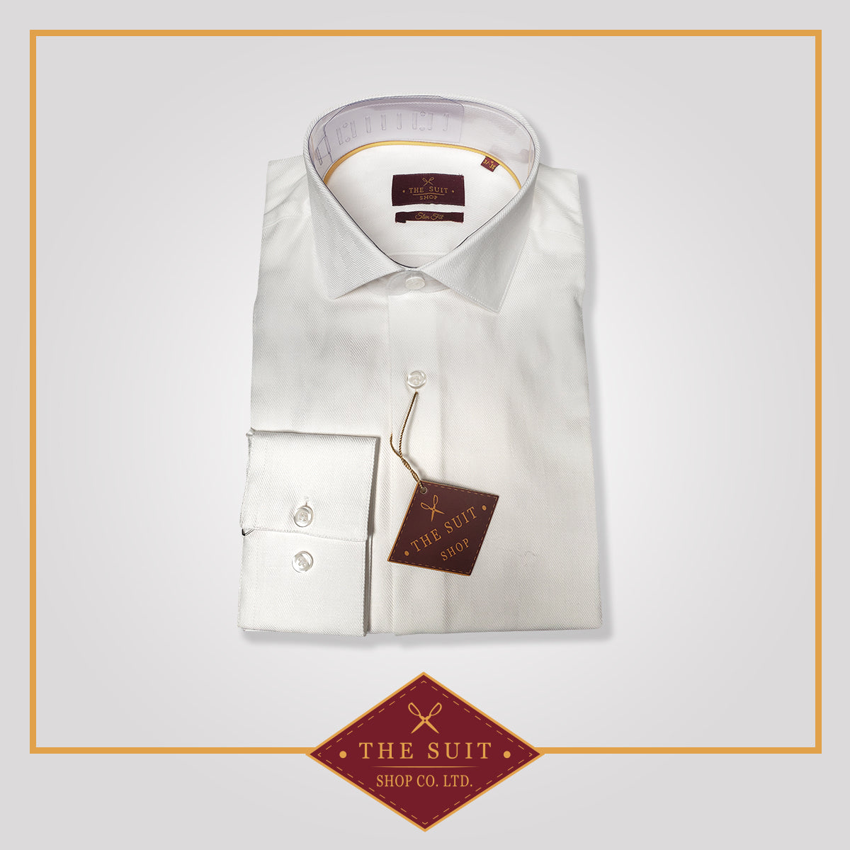 Windsor Shirt White High Twill Cotton