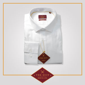 Windsor Shirt White Stretch Cotton
