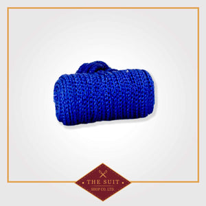 Blue Silk Knot Cuff Links