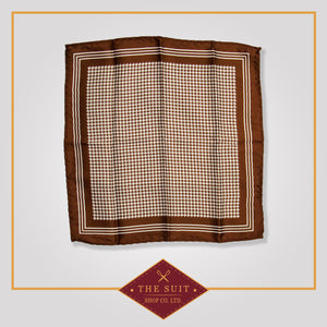 Morocco Brown Patterned Pocket Square