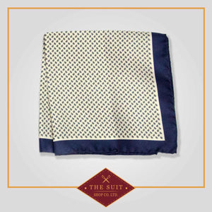 Cello and Parchment Patterned Pocket Square