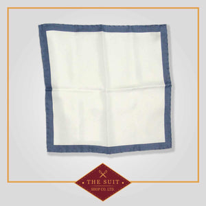 Saltpan and Blue Bayoux Patterned Pocket Square
