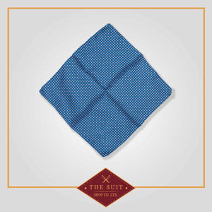 Venice Blue Patterned Pocket Square