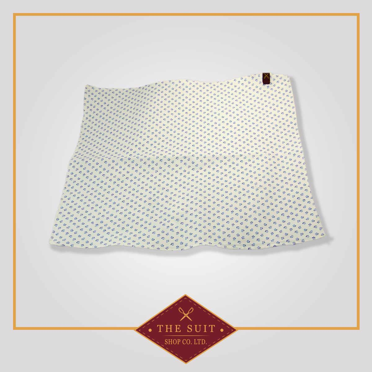 White Rock and Cello Patterned Pocket Square