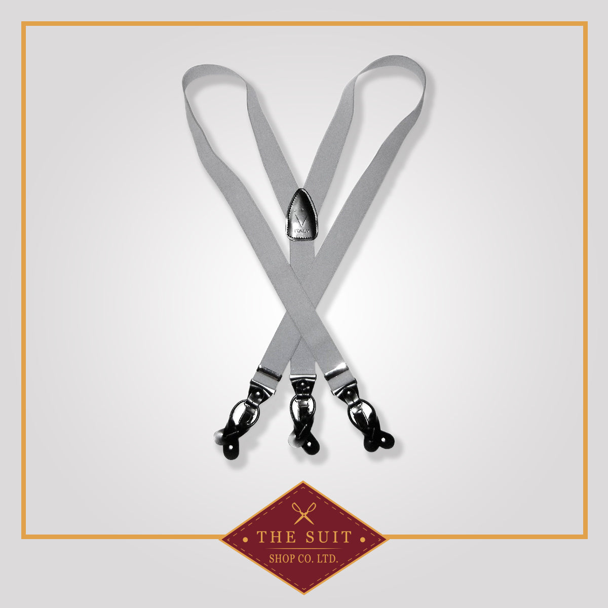 Gun Smoke Grey Suspenders
