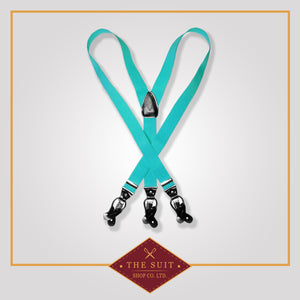 Aqua Green Suspenders