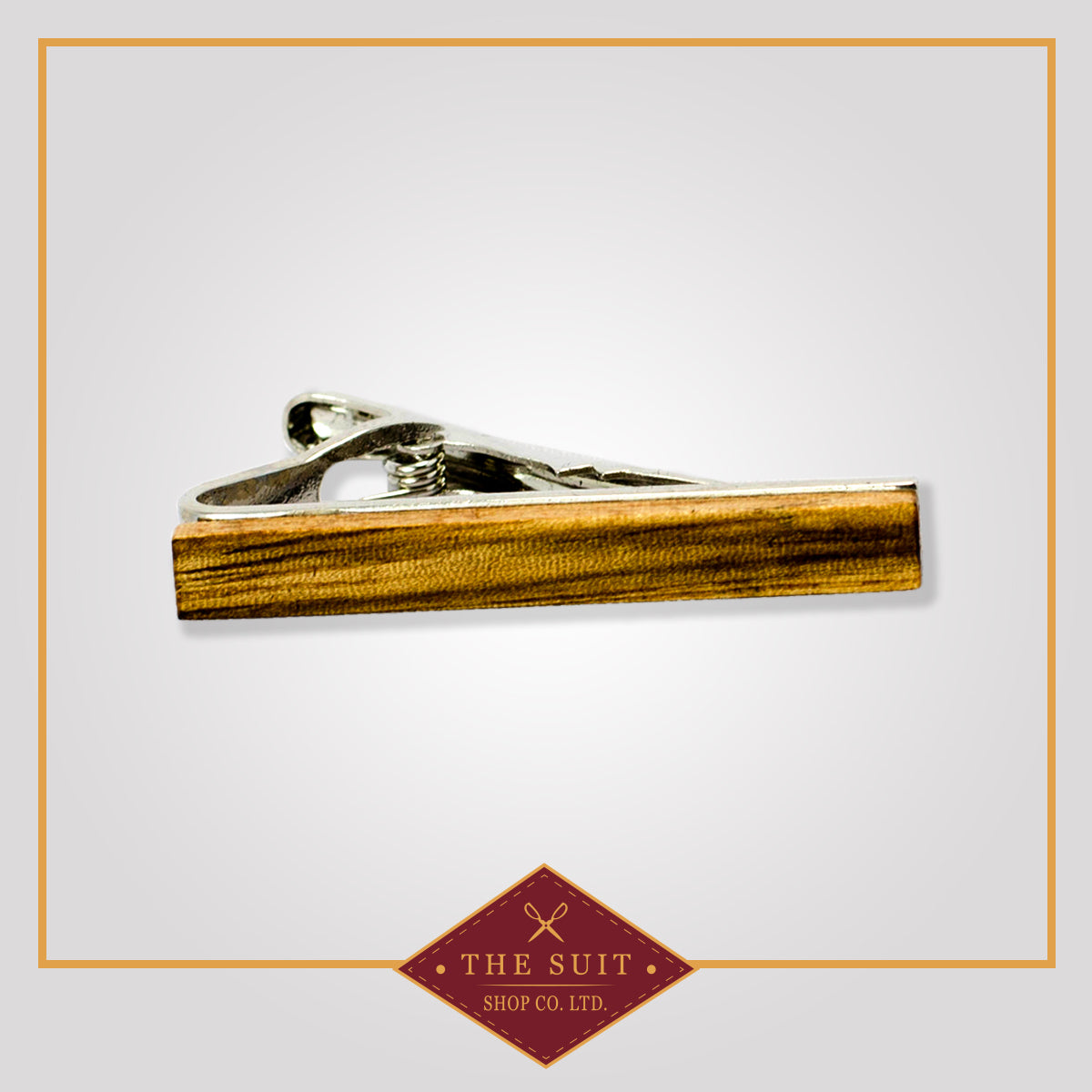 Honey Wood Stain Tie Bar Clip