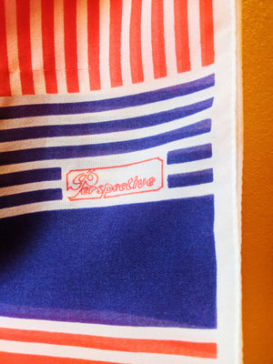 VTG Perspective Striped Rectangle Scarf