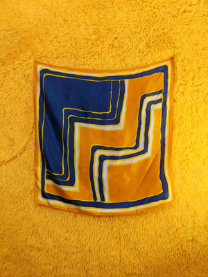 VTG Painted Step Square Scarf