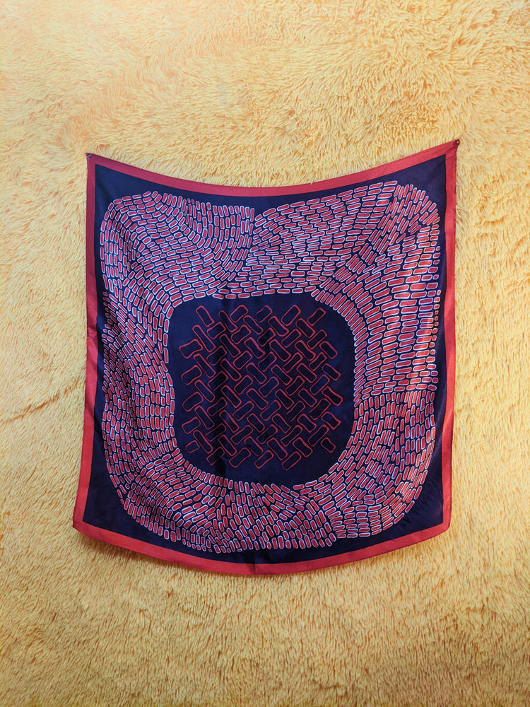 Load image into Gallery viewer, VTG Eggplant Cellular Square Scarf