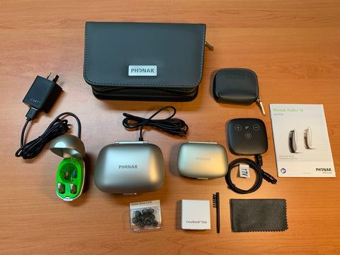 Phonak Audeo Paradise P90-R Hearing Aids Bundle Super Special (Premium & Rechargeable)