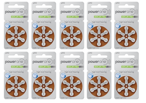 Power One 312 Hearing Aid Batteries