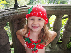Nautical - Strawberry Bikini Hat Set