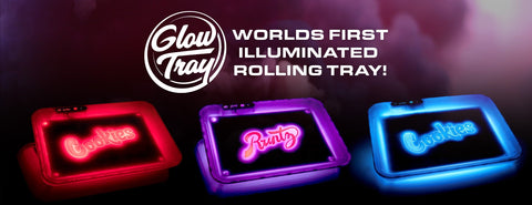 GLOW TRAY X COOKIES SF LED LIGHT UP ROLLING TRAY
