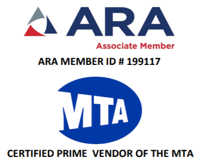 ARA Associate Member ARA Member ID #199117 MTA Certified Prime Vendor of the MTA