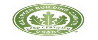 U.S. Green Building Council USGBC Leed Certified logo.