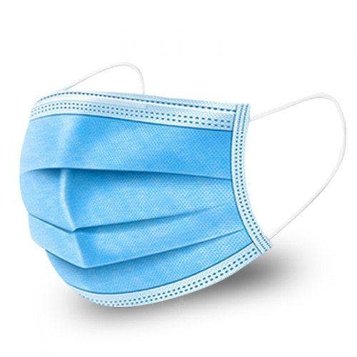 3-ply blue face mask with ear loops