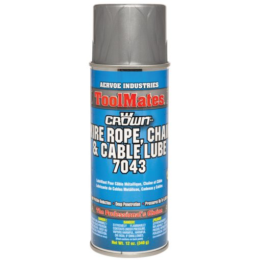Aervoe 7043 12-Oz Wire Rope Chain and Cable High Grade Lubricating Oil