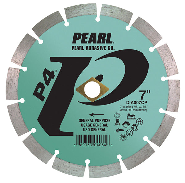 Pearl Abrasive Diamond Segmented Blade P4™ General Purpose 7 Inch