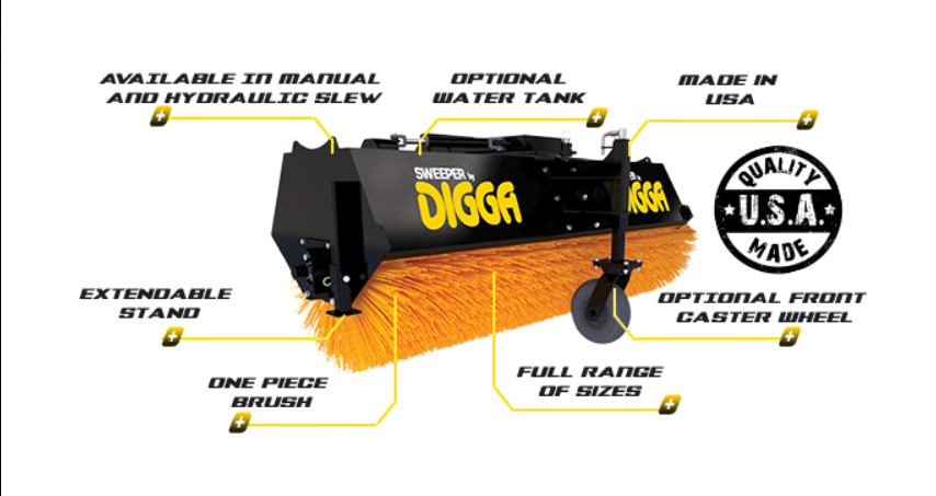 Digga Sweeper Angle Broom