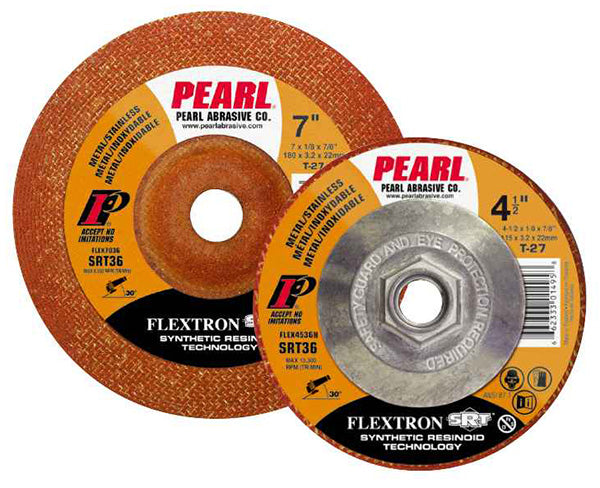 Pearl Abrasive Flexible Wheels SRT™ Flextron 7 x 1/8 x 5/8-11
