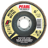 Pearl Abrasive Silver Line AO Maxidisc Flap Discs for Metal, Type 27 Shape