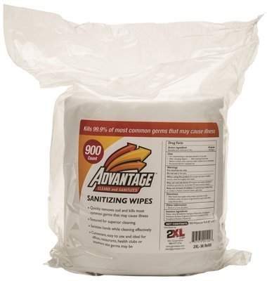GYM WIPES ADVANTAGE REFILL BAGS FORMULA ULTRA 900 PER BAG