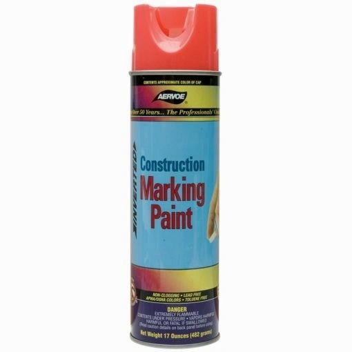 Aervoe - 20 oz. Construction Marking Paint - Fluorescent Orange