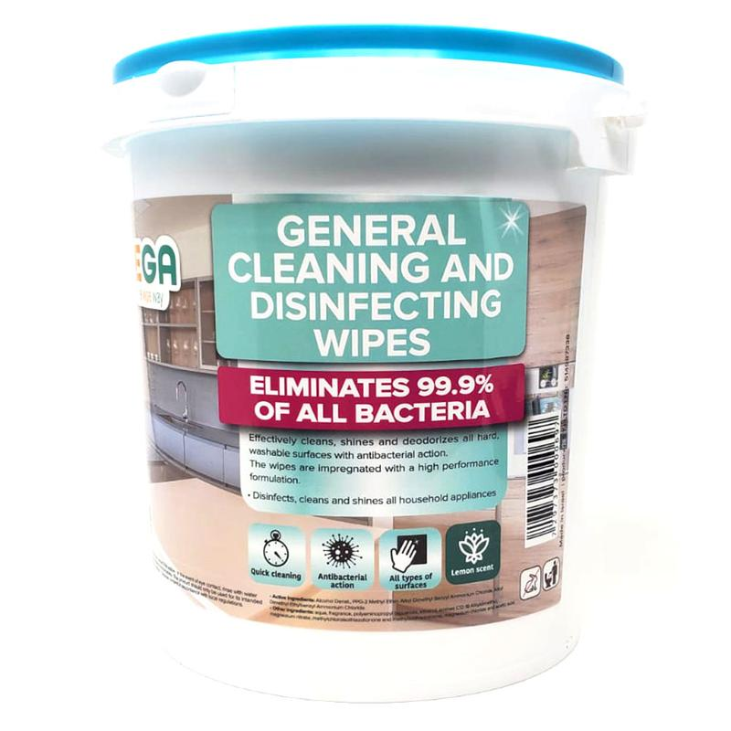 Vega Disinfecting Wipes Bucket of 300 Pre-Moistened Wipes