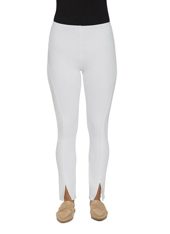 White Split Denim Leggings