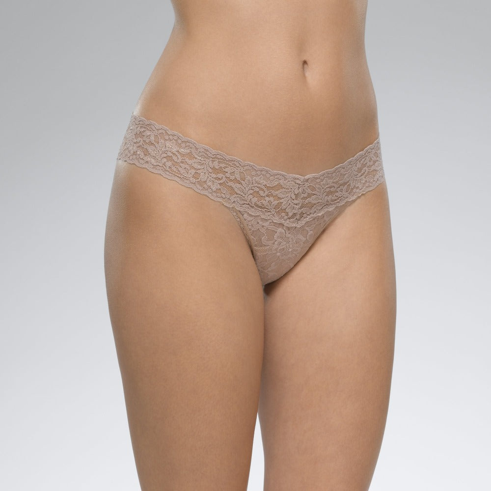 Hanky Panky Taupe Signature Lace Low Rise Thong
