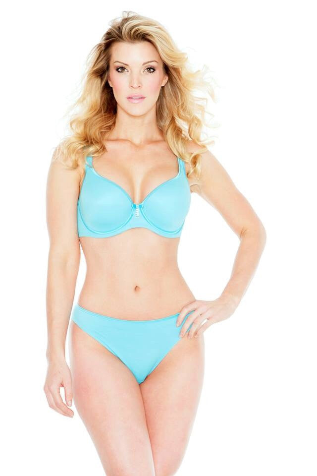 Turquoise  Crystal Smooth T-Shirt Bra