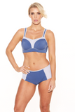 Blue and Silver Pauline Sports Bra