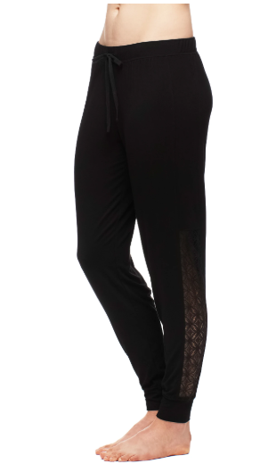 Fleurt Jogger Pants w/ Black Lace